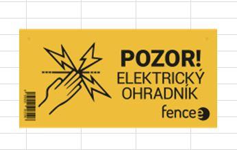 Figyelmeztető jel fencee villanypásztor