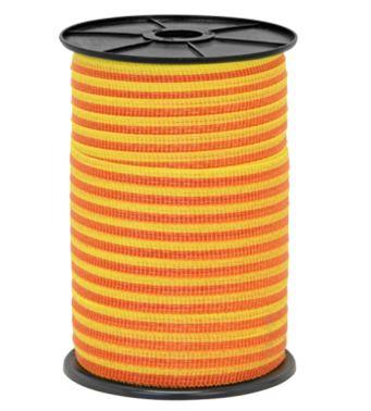 Szalag 10mm sárga-narancs villanypásztor